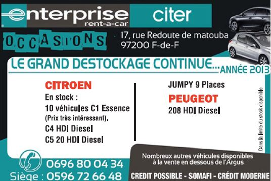 ENTERPRISE CITER OCCASION
